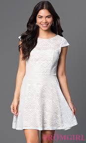 cap sleeve dresses white scoop neck cap sleeve dress promgirl