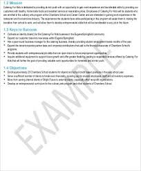 catering business plan template lukex co