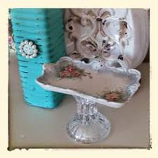 Shabby Chic Soap Dish by Shabby Chic Repurposed Soap Dish Antique Pin Tray And Crystal