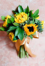 sunflower bouquets sunflower wedding flower ideas in season now brides