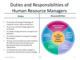 Hr Duties Resume Human Resources Manager Duties Why Human Resources Professional