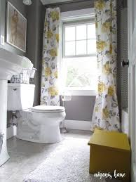 Gray And Yellow Bathroom by