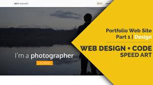 Art Portfolio Design Web Design Code Speed Art Portfolio Website Part1 Design