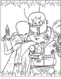 megamind coloring pages coloring