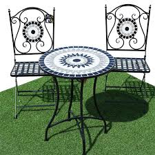 Mosaic Table L 52 Garden Bistro Table Sets Bentley Garden Wrought Iron Bistro