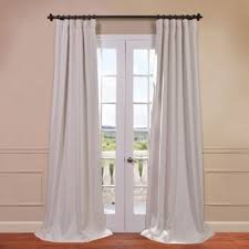 White Blackout Curtains 96 Bellino Cottage White 50 X 96 Inch Blackout Curtain Half Price