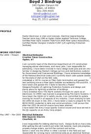 Electricians Resume Resume Example Electrician Resume Format Click Here To Download