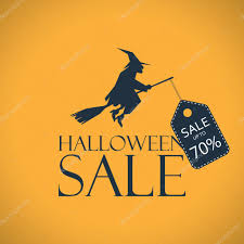 halloween sale background seasonal clearance poster discounts