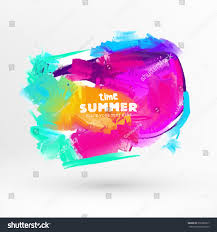 bright color paint stains summer design stock vector 276982817