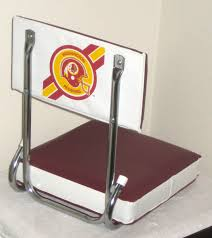 Seat Cushions Stadium Washington Redskins Football Folding Bleacher Seats Set Of 4 Nfl