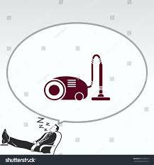 home interior design vacuums icon living stock vector 671559715