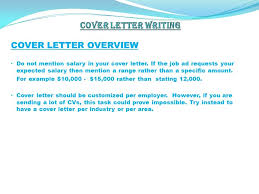 sample cover letter job not advertised for you with regard to jobs
