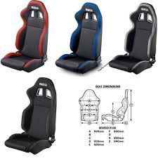 Comfortable Racing Seats Sparco R100 Racing Seat Street Black Black Grey Black Red