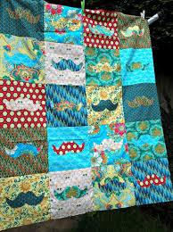 6 mustache quilt patterns for movember