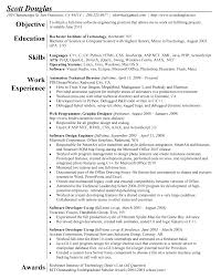 Example Of One Page Resume by Scottdouglasresumeconcise Png