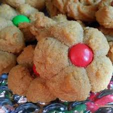 peanut butter cookie press cookies santa left a booger in my