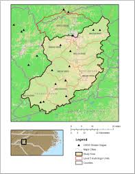 Map Of Western North Carolina Usgs North Carolina Wsc Projects Upper French Broad