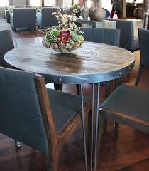 Reclaimed Wood Bistro Table Wood And Metal Cafe And Bistro Table Reclaimed Wood Top