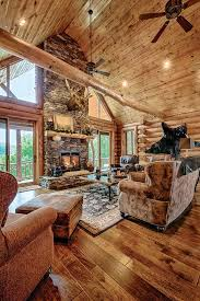 New Home Interior Design by A Mountain Log Home In New Hampshire Golden Eagle Wood Flooring