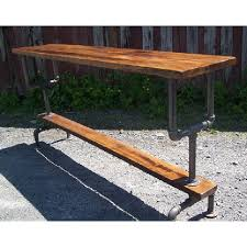 Industrial Bar Table Reclaimed Wood Furniture Industrial Style Bar Table W Metal Pipe