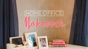 Temporary Fabric Wallpaper by Home Office Makeover With Temporary Wallpaper Youtube