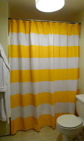 Yellow And White Shower Curtain Yellow And White Striped Shower Curtain Home Design Plan