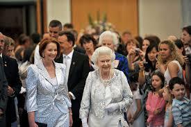 Queen Elizabeth Ii House Julia Gillard With Her Majesty Queen Elizabeth Ii At Parliament