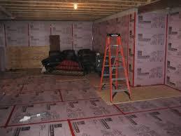 best basement subfloor options basement and tile
