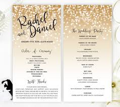 cheap wedding ceremony programs gold confetti wedding programs printed on luxury pearlescent