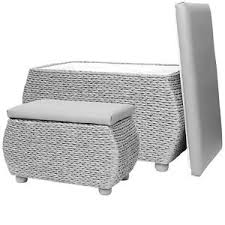 Storage Ottoman Uk Wicker Storage Trunk Grey Woven Benches Pair Ottoman Seat Uk