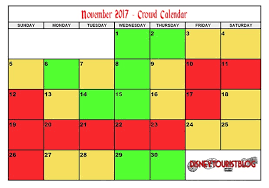 november 2017 disneyland crowd calendar disney tourist