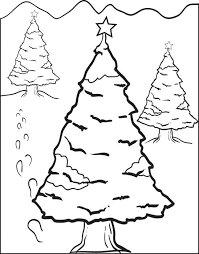 free printable christmas tree coloring kids 6