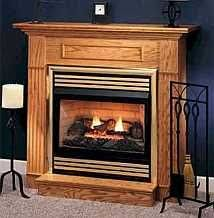 Gas Fireplace Mantle by Oak Vent Free Gas Fireplace Mantel Package Vanguard Napoleon