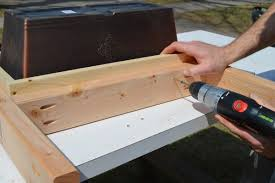 Patio Table Wood Remodelaholic Build A Patio Table With Built In Ice Boxes