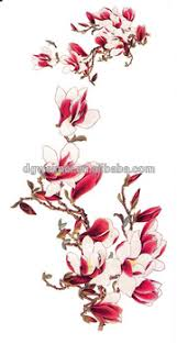new colorful flower tree tattoo design temporary tribal body