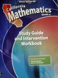 california mathematics grade 6 study guide and intervention