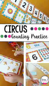 circus themed counting practice sara j creations