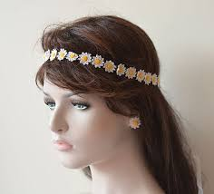 crochet flower headband wedding hair accessories wedding crochet flower