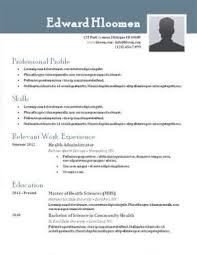 free resume templets free resume templates easily download print resume companion