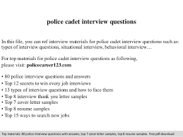 police cadet interview questions