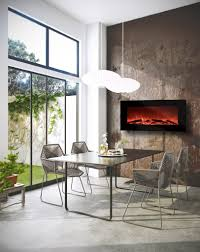 Electric Wall Mounted Fireplace Alternative Modern Ethanol U0026 Electric Fireplaces Decor Snob