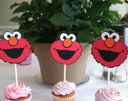sesame cake toppers elmo cupcake topper etsy
