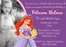 Design Birthday Invitation Card Online Free The Little Mermaid Birthday Invitations Baby Shower For Parents