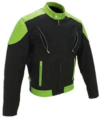 mens leather riding jacket men u0027s vented leather u0026 cordura jacket black and lime green i only