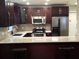 solid wood kitchen cabinets miami wood cabinets white quartz countertop miami general
