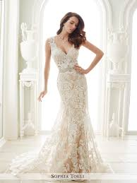 ivory lace wedding dress y21656 fellini tolli wedding dress