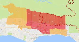 Ojai California Map Thomas Fire At 89 Percent Containment Kcbx