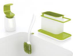 eponge vaisselle avec reservoir set évier organiseur distributeur savon u0026 brosse vert u0026 blanc