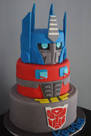 cake transformers transformer cake cakes 4th bday party