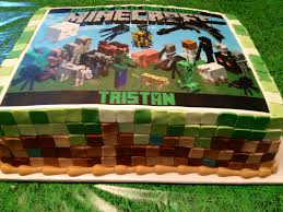 minecraft edible cake topper minecraft cake using fondant for pixelated squares and purchased a